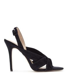 Womens Navy Suede Sandals - Reiss Rhiannon