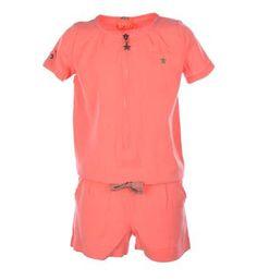 Flo jumpsuit, model Lieke - Pink - NummerZestien.eu