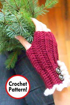62e77da94a9 Christmas mittens Crochet pattern