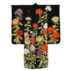 Wonderful Japanese Silk Kimono | From a unique collection of antique and modern textiles at http://www.1stdibs.com/furniture/asian-art-furniture/textiles/