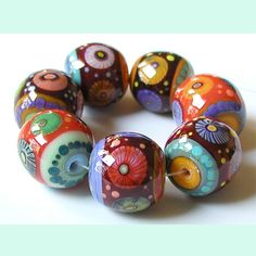 Ruthless 7 vampy beads lampwork by Sarah Moran by zbeads on Etsy