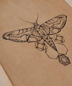 Geometric Hexagon Moth, £75.00