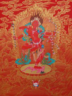 Kurukulla Canvas Print / Canvas Art by Binod Art School