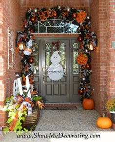 #Halloween How to #Blog-Halloween all through the house. Starting with the #porch.
