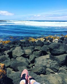 Just chillin on the rocks  #watching#surfers#beach#waves#rocks#chillin#relaxing#love#perfect#weather#port#fairy by __jennalee_