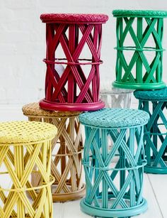 Child's peacock side table in an array of FAB colours - via DTLL.