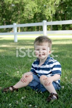 Country boy series: Happy in the country. Royalty Free Stock Photo