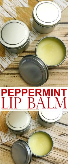 This DIY Peppermint Lip Balm is quick & easy and full of nourishing ingredients for healthy looking lips. This is a great homemade gift or diy stocking stuffer!