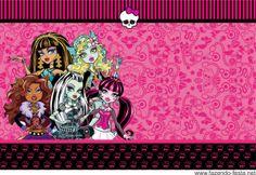 Kit Monster High en Rosa, para Imprimir Gratis.