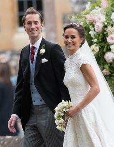Bekijk hier alle foto's van de bruiloft van Pippa Middleton, met Kate Middleton en prins George en prinses Charlotte.