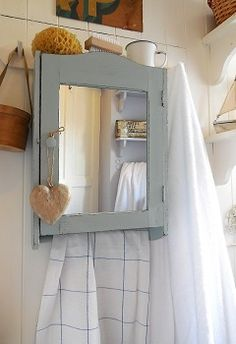 Vintage painted bathroom cabinet from Lavender House