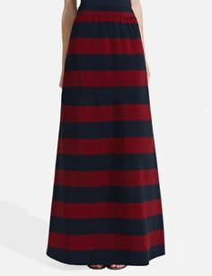 Striped Sweeper Skirt from THELIMITED.com