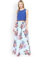 Athena Blue Floral Print Maxi Dress
