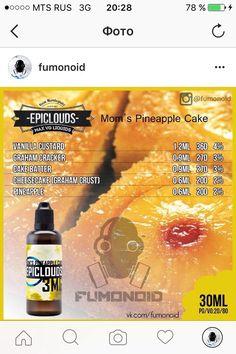 Premium E-liquids straight from the manufacturer Diy Vape Juice, Vape Facts, E Juice Recipe, Graham Cracker, Clone Recipe, Vape Smoke, E Liquid Flavors, Mom Cake, Cherry Candy