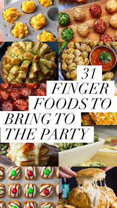 christmas appetizers 31 Finger Foods To Bring To The Party - Captain Decor Appetizers For A Crowd, Finger Food Appetizers, Food For A Crowd, Appetizer Recipes, Easy Party Finger Food, Easy Appetizers For Party, Finger Foods For Parties, Easy Thanksgiving Appetizers, Christmas Cocktail Party Appetizers