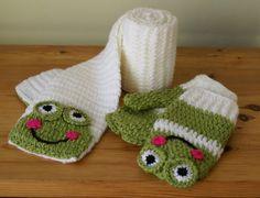 Cartoon Frog Handmade Crocheted Children by MotivesAndPatterns, $19.99