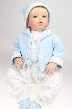 """158.39$  Buy here - http://aijln.worlditems.win/all/product.php?id=32430817301 - """"28"""""""" 70CM Hot Sale Silicone reborn dolls babies For Sale reallistic boy baby alive reborn toddler bonecas kids toys"""""""