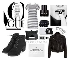 """""""black and white"""" by aneukrfl on Polyvore featuring M.i.h Jeans, New Look, Topshop, Lacoste, NIKE, Valentino, Little Barn Apothecary, Kenneth Cole, white and black"""