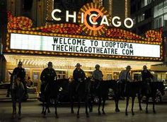 Chicago Mounted Police Patrol at Looptopia - Chicago - 2008