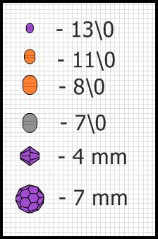 beaded bead pattern, schema   Beads Magic
