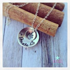 Sterling Silver hand stamped personalized by SaltyKissesCompany