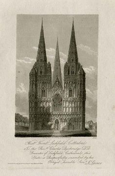 Front of Lichfield Cathedral