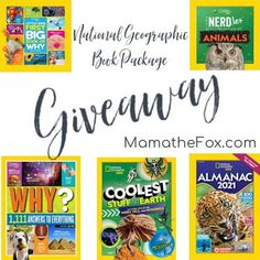 Win a Prize Pack Book Bundle from National Geographic – Ends 12-14