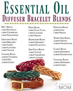 Essential Oil Diffuser Bracelet Recipes