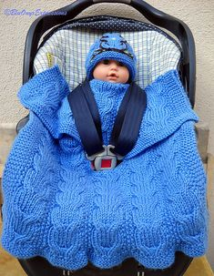 Knitting Pattern Reversible Cable Car Seat Baby Blanket - This a reversible blanket knit with Double Cable, Seed and Garter stitches features a multi-point harness slit knit into the blanket so that your blanket will stay in place covering your little one Cable Knitting Patterns, Knitting Stitches, Knit Patterns, Baby Hat And Mittens, Knitted Baby Blankets, Knitting For Kids, Baby Knitting, Free Knitting, Stroller Blanket
