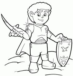 The Helmet of Salvation Kids coloring page. See more at my
