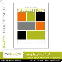 Cathy Zielske's Layered Template No. 104 - Digital Scrapbooking Templates - Cathy Zielske