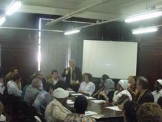 Mesa de reunião dos componentes do Grupo de Trabalho de enfrentamento a Intolerância Religiosa, realizado pela SuperDir/SEASDH do Rio de Janeiro
