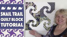 Quilting Blocks: Snail Trail Quilt Block Tutorial - YouTube
