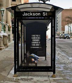 Homeless campaign by Serve Marketing, Milwaukee, WI, USA - HomeLess, HomeLessNess, Sans Abris, Obdachlos, Senza Dimora, Senza Tetto, Poverty, Pobreza, Pauvreté, Povertà, Hopeless, JobLess, бідність, Social Issues, Awareness