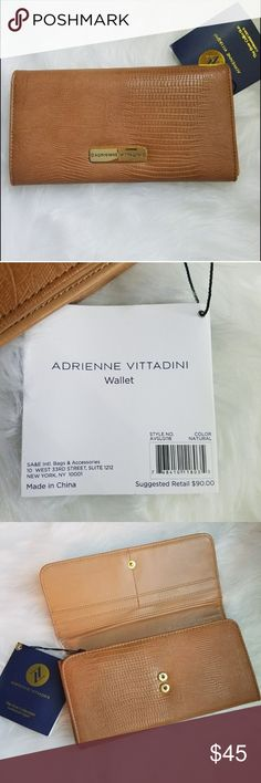 Adrienne Vittadini $90 new with tags. Super cute and chic. Caramel color is easy to match with! The bow is perfect for spring or summer. Must have accessory piece. Retail $90 new with tags. Adrienne Vittadini Bags Wallets