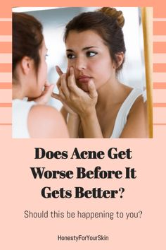 Yikes. Help. I started a new acne treatment but my acne's getting worse. Is acne getting worse before it gets better a thing? Does this mean my skincare's working? Or does it mean I should stop using it? Click to find out. #acnetreatment #acneskincare