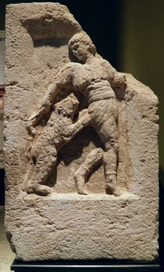 Stele of animals trainer, 2nd - 3rd century AD, from the necropolis at Kibyra, Burdur Museum