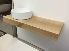 Waschtischplatte für aufsatzwaschbecken  Waschtischplatte Eiche mit Mineralguss Waschbecken Schwarz Weiß ...
