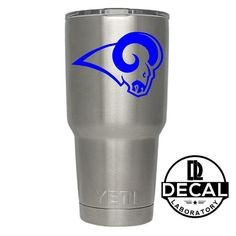 Yeti Decal Sticker - Los Angeles Rams Decal Sticker For Yeti RTIC Rambler Tumbler Coldster Beer Mug