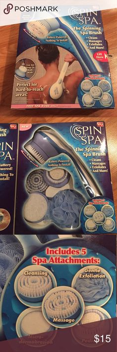 Spin Spa As seen on tv --  Spin Spa  *Box is a little tattered (stored in the top of my closet) but contents have never been removed from box.  New /Never Used spin spa Other