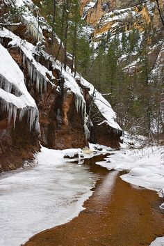 Oak Creek Canyon during the winter. This is a pretty popular joint and not to far off from civilization. #oak creek canyon #az #arizona