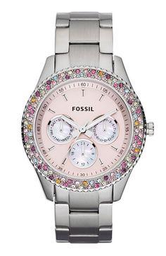 9347ea57ca9 Fossil Stella Stainless Steel Watch  Watches  Amazon.com Bracelet Watch