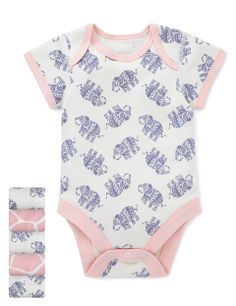 5 Pack Pure Cotton Assorted Bodysuits | M&S £11