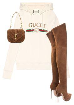 """knjn"" by shoppingkilla ❤ liked on Polyvore featuring Gucci and Yves Saint Laurent"