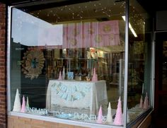 Christmas Cherry Blossom Paperie Window Display