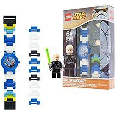 Reloj modificable infantil de Luke Skywalker de LEGO Star Wars con pulsera por piezas y figurita; azul/blanco; plástico; 28 mm de diámetro; Cuarzo analógico| chico chica; oficial Ver Chollo http://amzn.to/2DEq4MR   Reloj infantil modificable de LEGO. Incluye las conocidas figuritas de LEGO. Piezas de reloj intercambiables de múltiples colores. Incluye 12 piezas de reloj adicionales. Esfera del reloj fácil de leer. Cómoda y duradera. Pantalla analógica. Correa ampliable que se adapta a la…