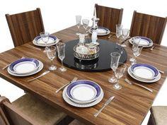 Conjunto de Mesa com 6 Cadeiras Estofadas - Dj móveis Armonia com as melhores condições você encontra no Magazine 233435antonio. Confira!
