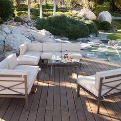 Coral Coast Bellagio 10 pc. Aluminum Sectional Sofa Set - Seats 8 | Jet.com