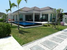 Paradisiacal Pool Villa for rent in Hua Hin City area, Thailand  Pined By : http://www.mypropertyhuahin.com/rent-house/hfr-119/
