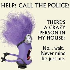purple minion gone crazy
